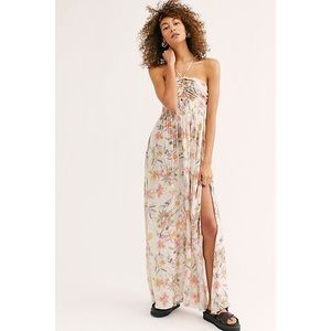 FREE PEOPLE ONE STEP AHEAD MAXI SLIP DRESS